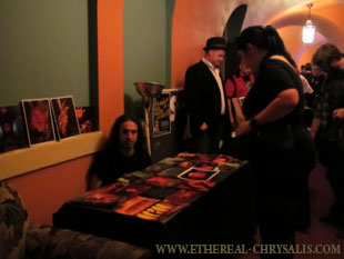 Syl Disjonk giving away prints at H.P. Lovecraft Film Festival