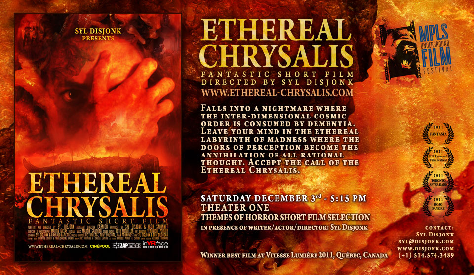 Ethereal Chrysalis at Minneapolis Underground Film Festival