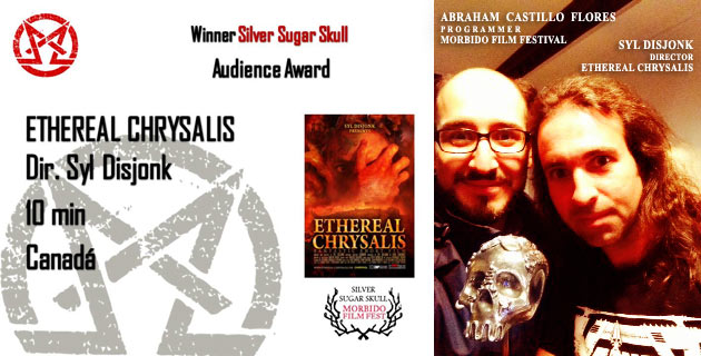 Ethereal Chrysalis winner Silver Sugar Skull audience Award