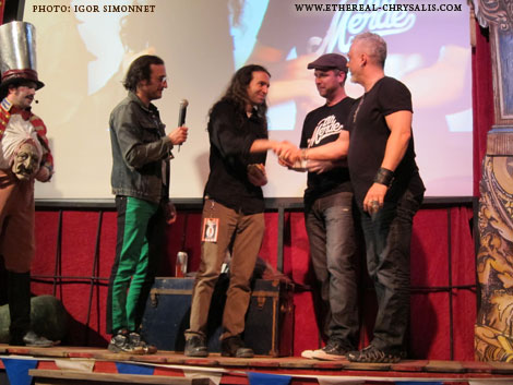 From left to right : Carnior, Martin Dubrueil, Syl Disjonk, Jarrett Mann and Érik Canuel. Vitesse Lumière 2011 - Winner for best film